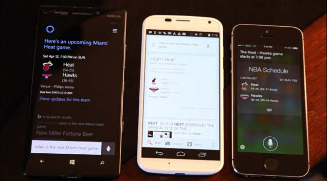 Siri vs Google Now vs Cortana: test hlasových asistentů